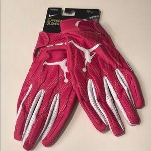 Nike Jordan Superbad Football Gloves Pink NWT